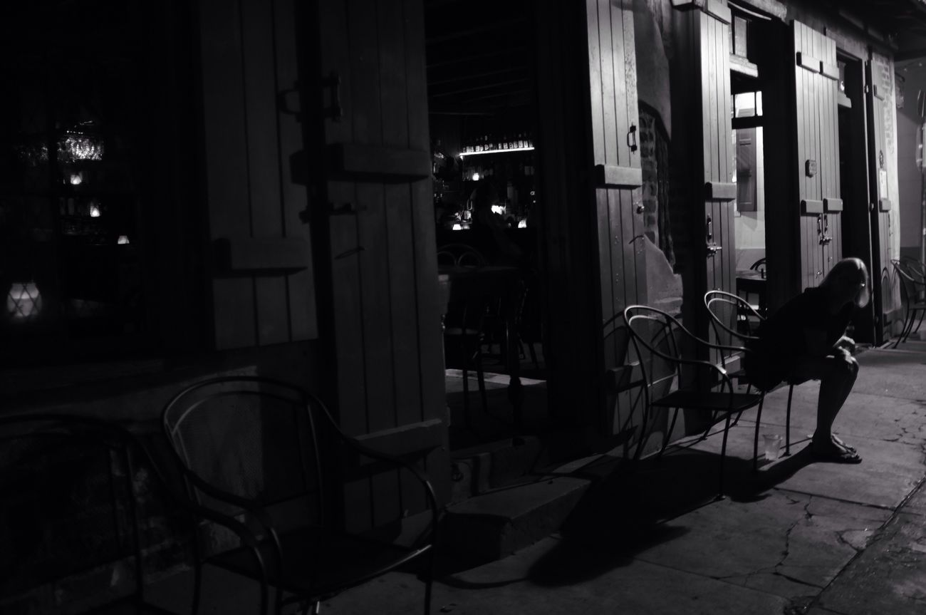 Jane Doe Monochrome Silhouette NOLA New Orleans Streetphotography