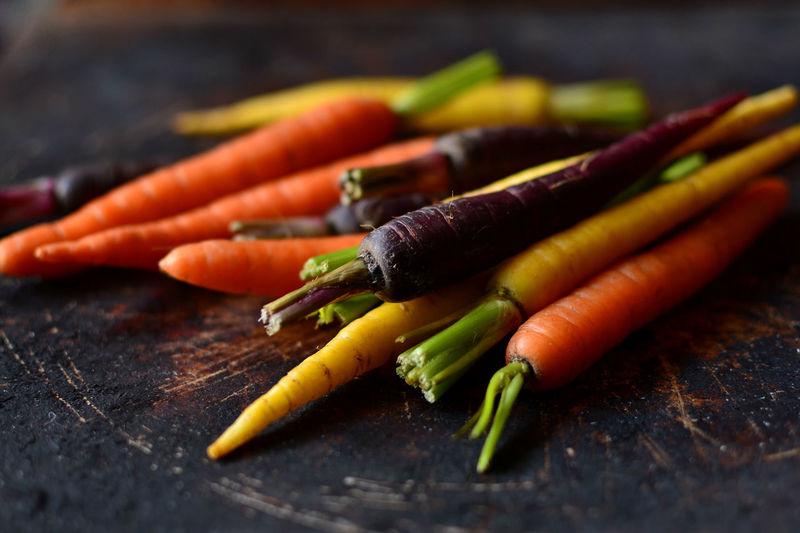 Carrots Dark Food Photo Day Food Food Ingredients Foodphotography Healthy Eating Multicolored No People Raw Food Vegetables Vegetarian Food Veggies Food Stories