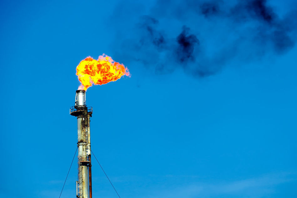 Oil Refinery Flare Stack Business Finance And Industry Outdoors Industry No People Sky