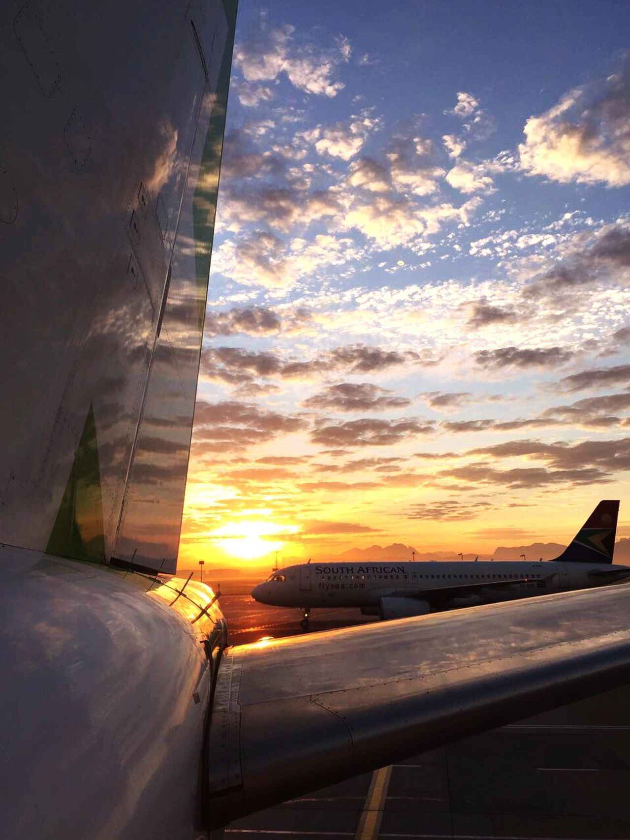Airline Aircraft Sunrise Aircraft Sunrise