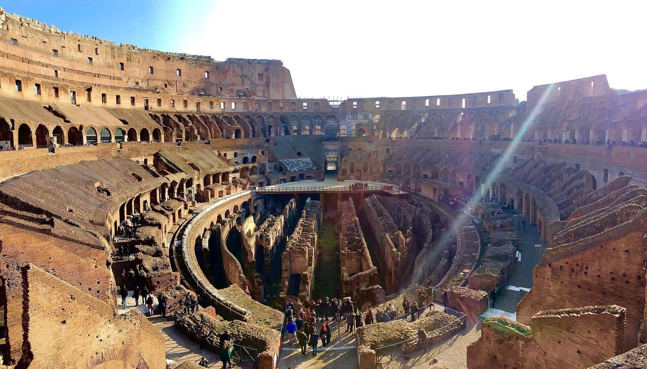 Gladiator arena! IPhoneography From My Point Of View Iphone6plus Taking Photos Hello World Architecture Architecture_collection Check This Out Rome Italy Gladiator Colesseo Colesseum Italy❤️ Italy Sunlight Sunburst