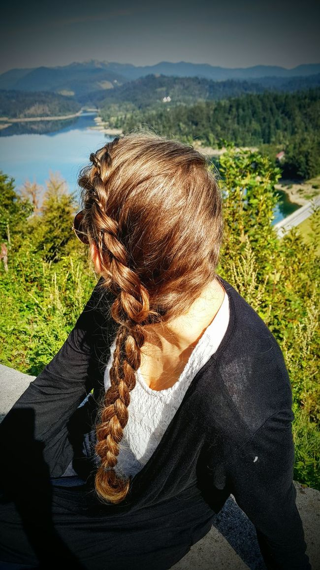 Braid Braids Braided Hair Braids Done By Me Hair Hairstyle Nature Day Solitude Vacations Outdoors Lokve Lake Lake View Sky