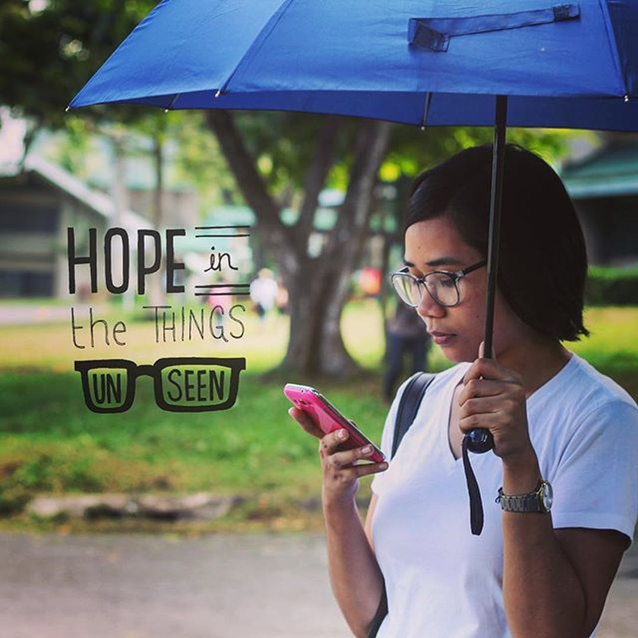 Audacious faith claims the promise of God despite overwhelming difficulties in life. @kimeefernandez Over Overapp Philippines UPLB TeamJesus Losbanos Explore Travelgram Traveldiary Travelprocinema Instantanalog Travel Mytravelgram ASIA SEAsia Umbrella Texting Danielwellington Whiteshirt  Faithtoclaim Daretobelieve