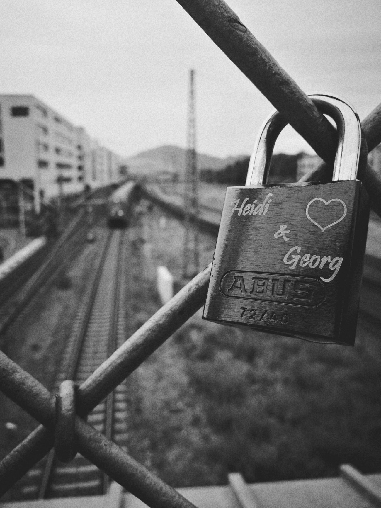 My Year My View Close-up Outdoors No People Day Text Lock Sky Love Is In The Air Promise Bridge Train Station Foreign City Freiburg