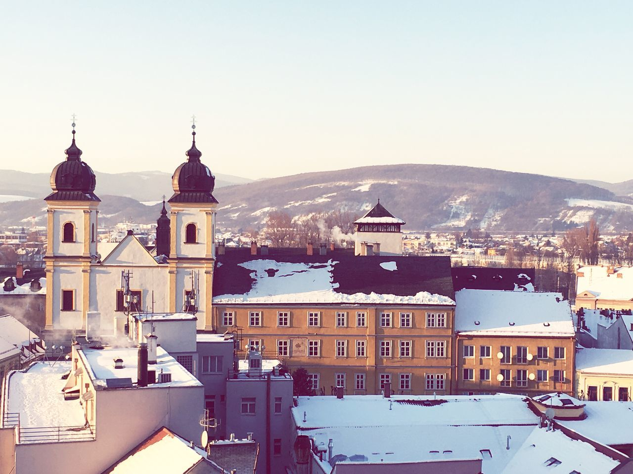 Snow,winter,town First Eyeem Photo