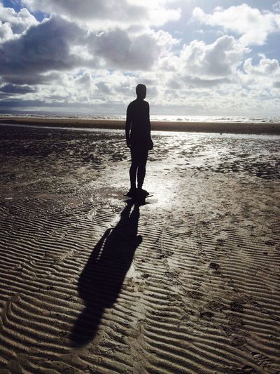 Anthony Gormley's 'Another Place', Crosby Beach, Merseyside.