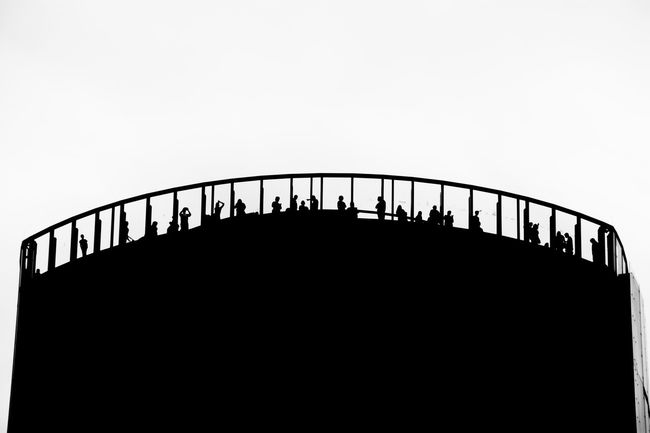 Architecture Black And White Bridge Bridge - Man Made Structure Built Structure Clear Sky Connection Copy Space Day Engineering Footbridge Low Angle View Mountain Nature Outdoors Outline People And Places Railing Silhouette Sky