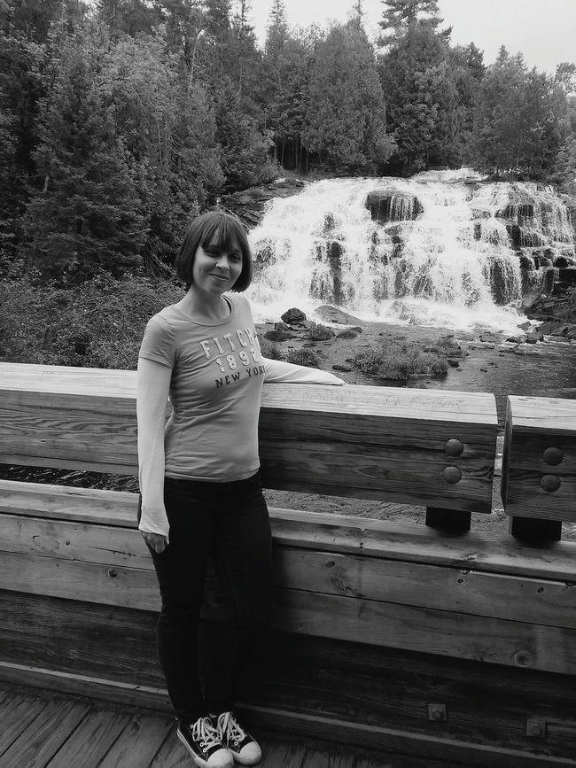 Vacation Girlfriend Waterfall
