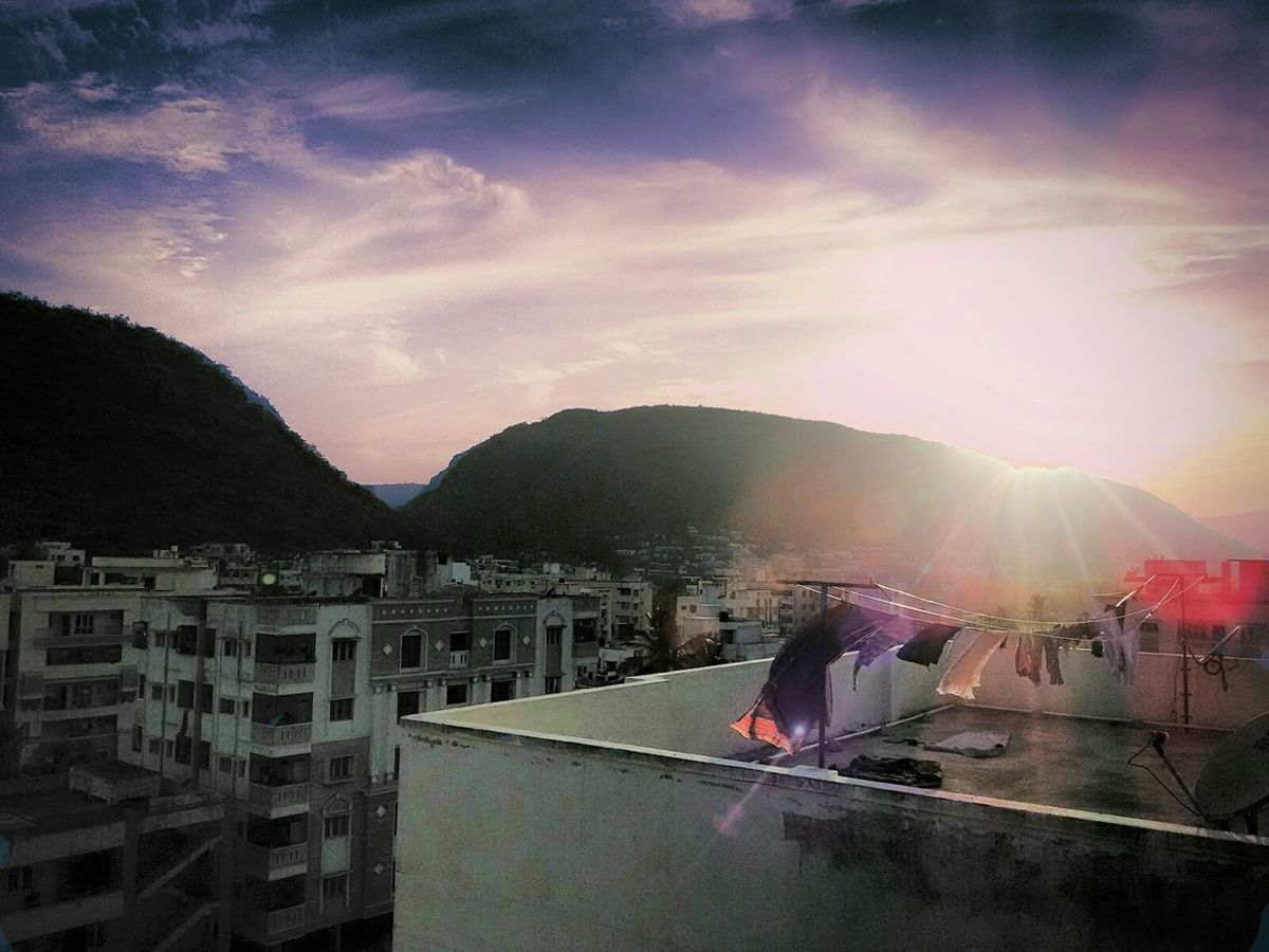 Sunset Clothes Drying Clothes Taking Photos Enjoying Life Mobile Photography i havent been on top of our apartment its kind of feeling woooooowww!