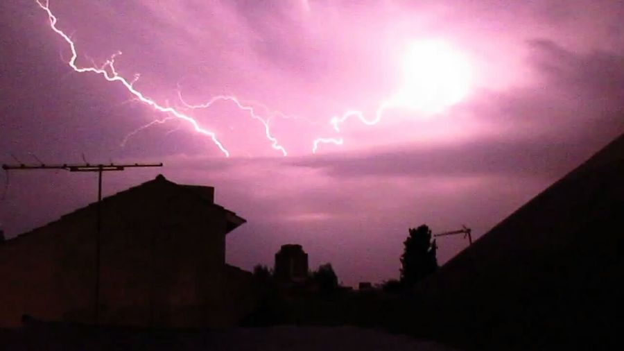 Tormenta Lluvia Noche Storm Thunderstorm Sky Clouds Electric Rayo Rain