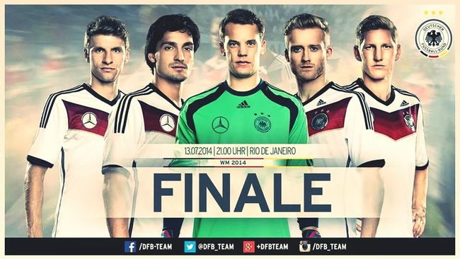 Freaking out after the match against brazil... germany is amazing and we will get the 4th title ! Be ready argentina Worldcup Germany Final AneurerSeite