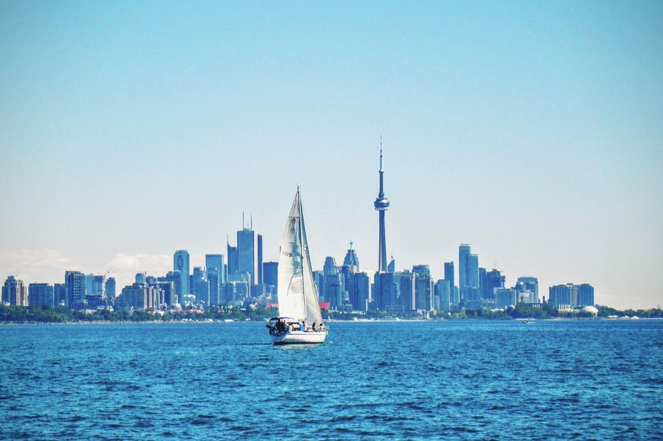 Beautiful stock photos of canvas, Architecture, Building Exterior, Built Structure, CN Tower