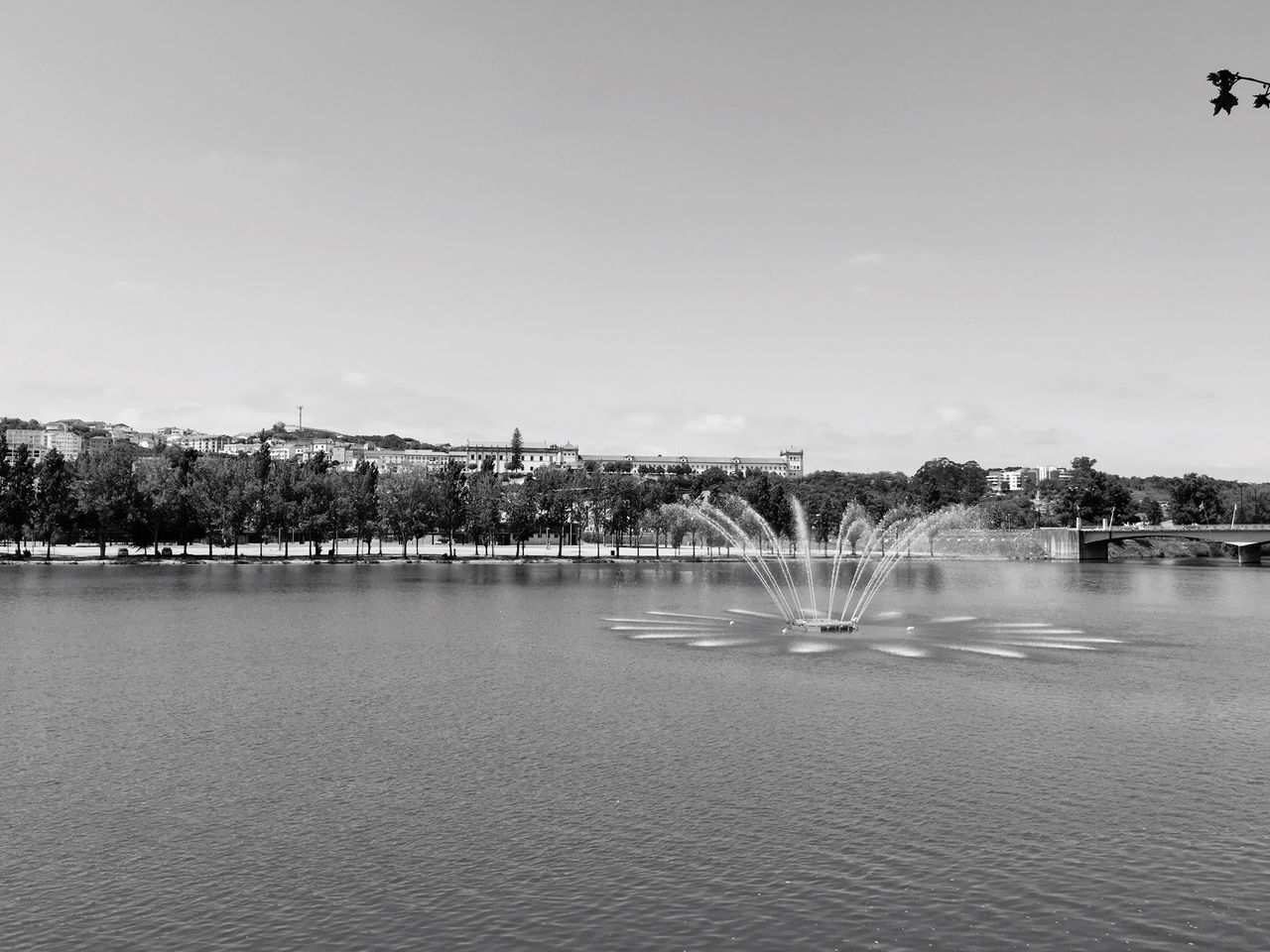 Coimbra Portugal Blackandwhite Riverside Mondego Fountain University Summer Docks Dockside Oldcity