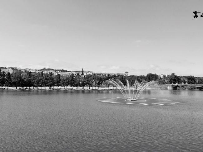 Coimbra Portugal Blackandwhite Riverside Mondego Fountain University Summer Docks Dockside Oldcity