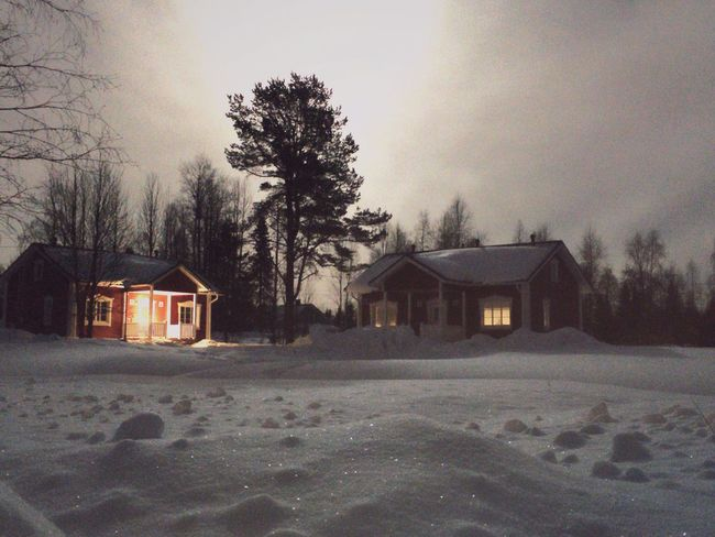 Landscapes With WhiteWall Lapland Night