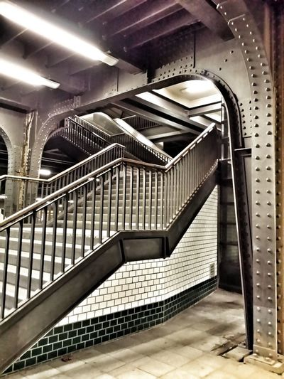 View From Below EyeEm Best Shots Perspective Ambiance Metal Structure Showcase March Metallic Retro Railway Station Stairs Geometry Stairways Steps And Stairs Berlin Station Empty Places Structural Steel Steel Construction Public Transport Q The Architect - 2016 EyeEm Awards Cities At Night On The Way Capture Berlin Traveling Home For The Holidays Adapted To The City The Secret Spaces Discover Berlin