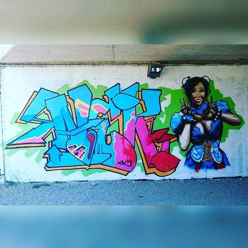 Graffiti Artedistrada Artofstreet Estate2015 summer2015☀️ summertime summer2015 walkingthedog walking murales murals muralesart urbanart urban reggioemilia color urbangraffiti urbangraffitisbcn