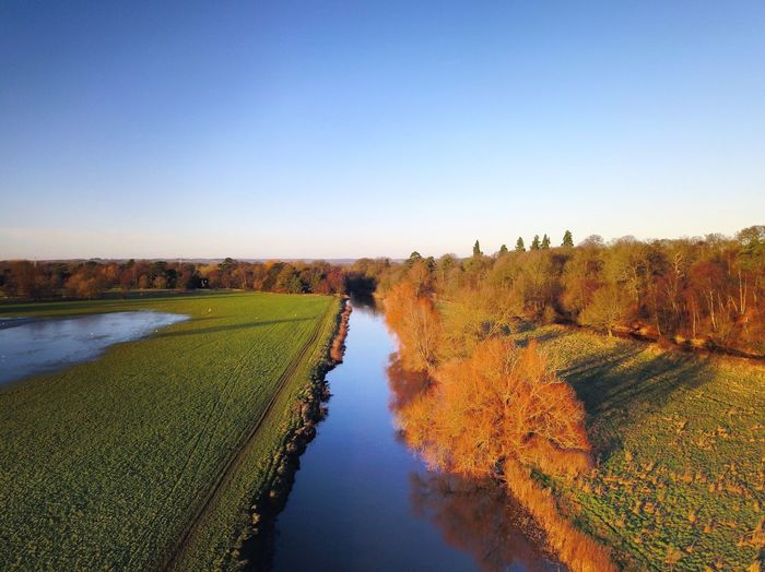 Myfirsteyeem MyfirstEyemphoto Drone  Water Nature Airial Photography Tranquil Scene River Autumn Landscape Outdoors Sky Tranquility