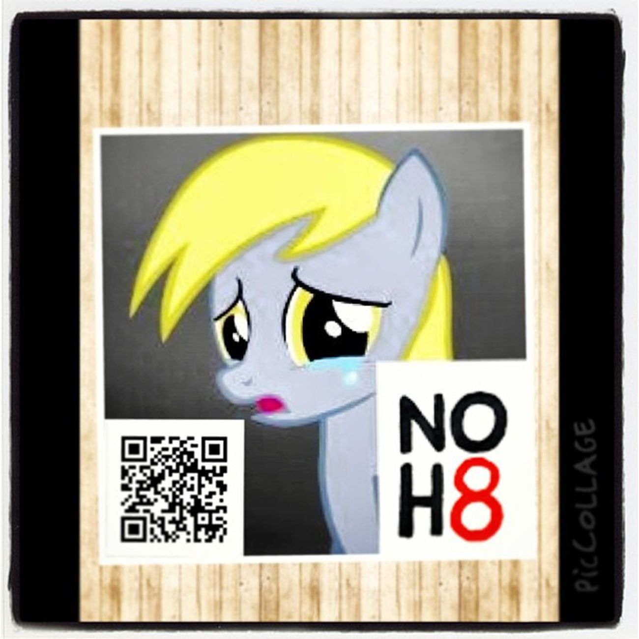 SaveDerpy NOH8 I Spread the Love Share the Peace piccollage