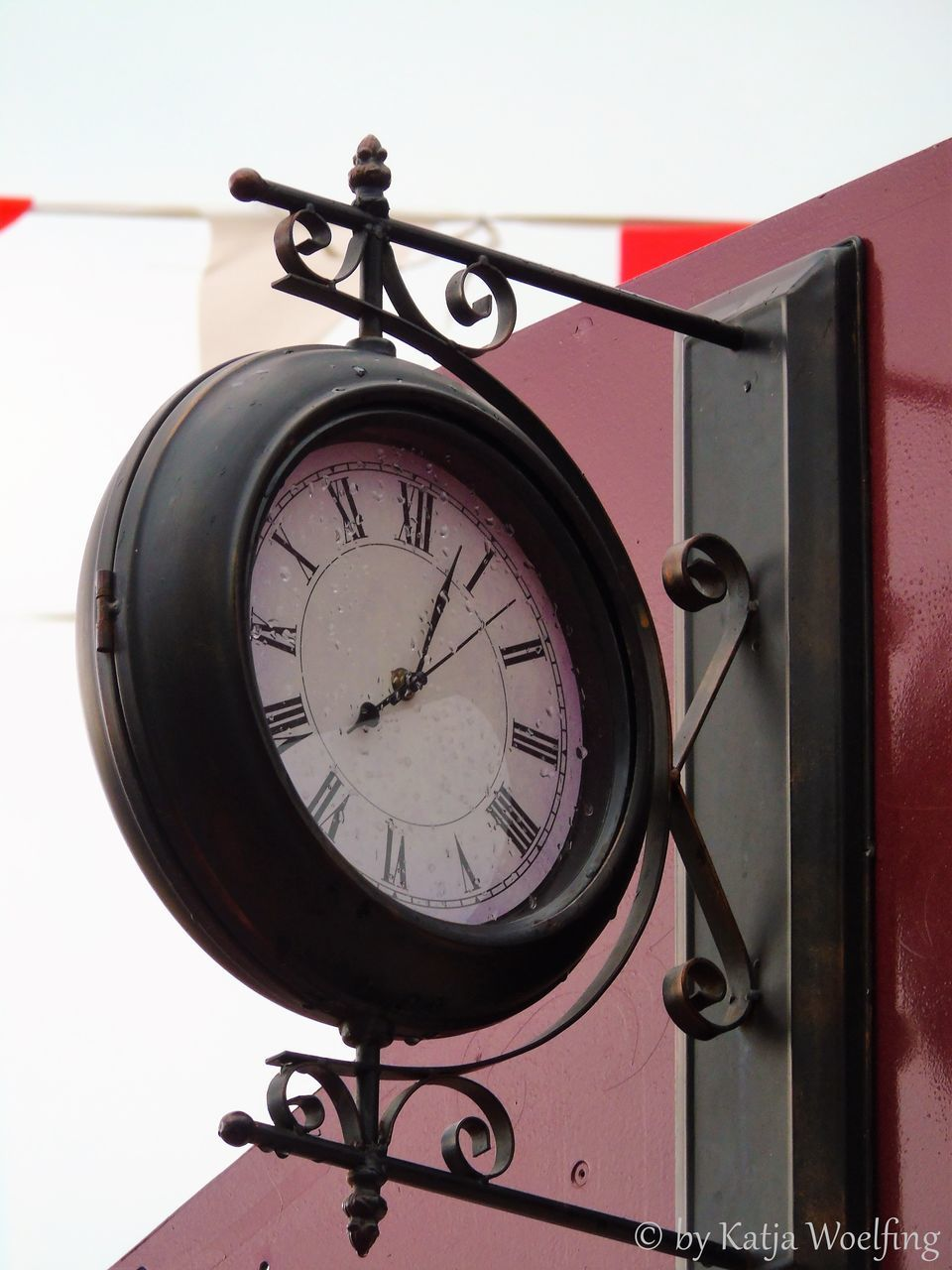 time, clock, low angle view, no people, roman numeral, close-up, day, indoors, minute hand, clock face