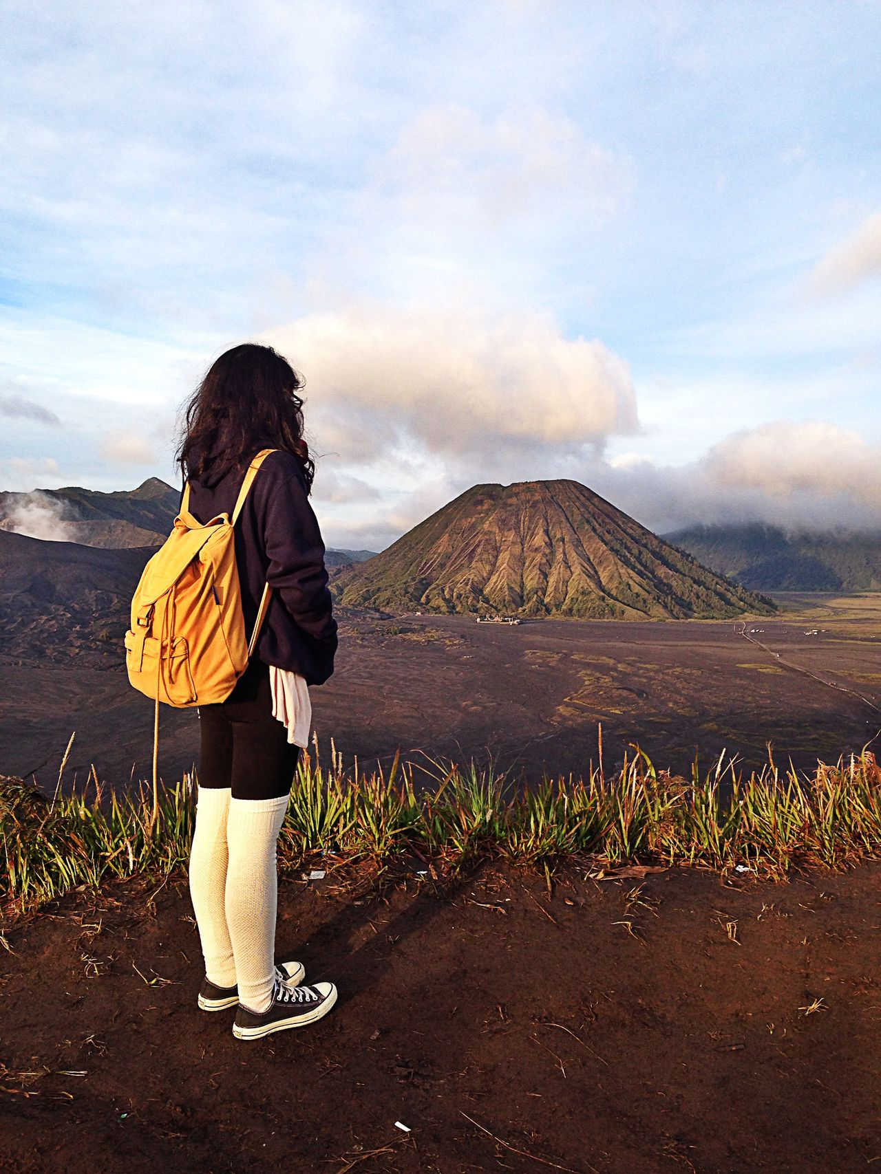 Beautiful stock photos of volcano, Casual Clothing, Cloud, Day, Full Length