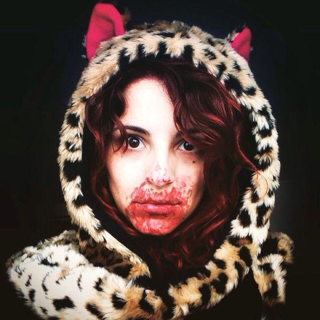 BLOODY Horror Creepy Self Portrait