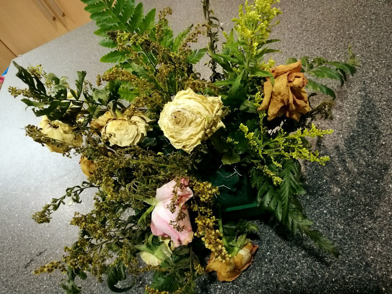 High Angle View Flower Plant Indoors  No People Nature Close-up Dried Flowers Wilting Flowers Roses Dried Roses