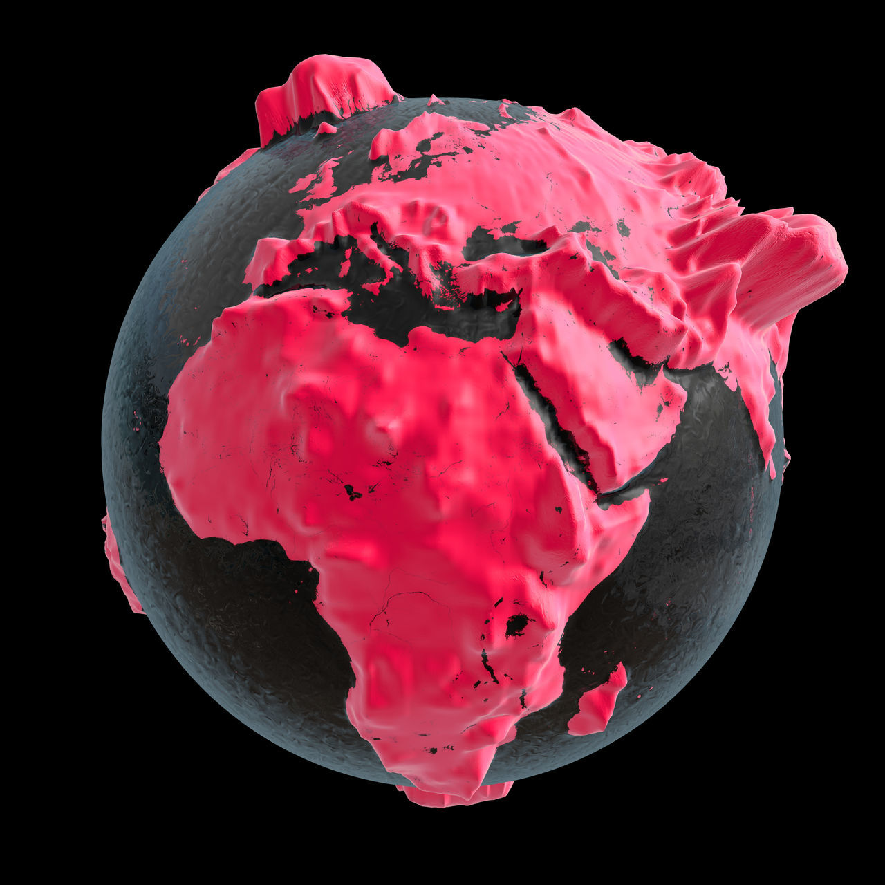 3D rendering: planet earth 3D 3d Rendering Africa Altitude Altitude Profile ASIA Continent Continents Earth Europe Global Globe Pink Pink Color Planet Planet Earth Rendering Terrestrial Globe World World-wide Worldwide