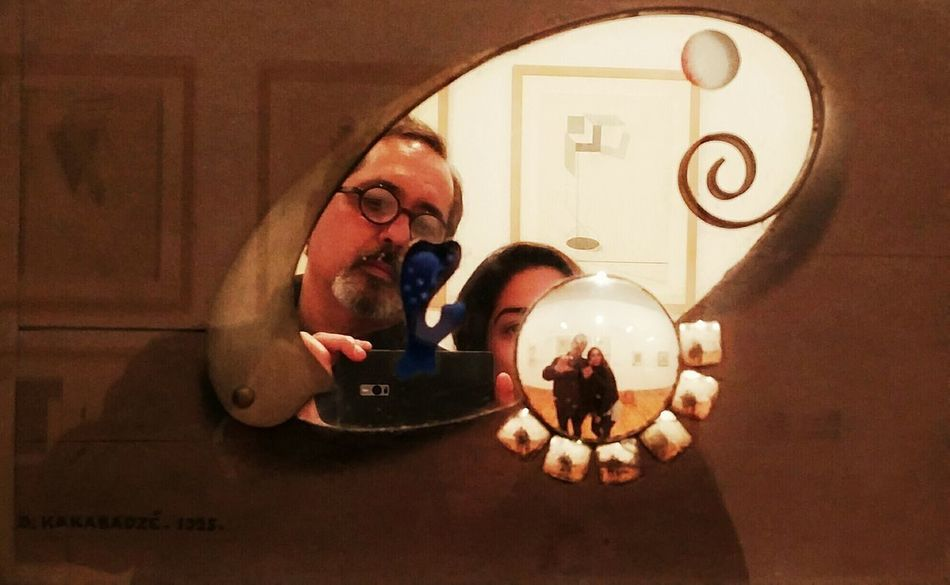 First Eyeem Photo Colour Photography Januaryphotochallenge January : Showcase Taking Photos Wintertime Lisboa Portugal Centro Cultural De Belém Selfportrait With My Daughter Reflex On Glasses Reflected  One Plus Two Welcome Weekly