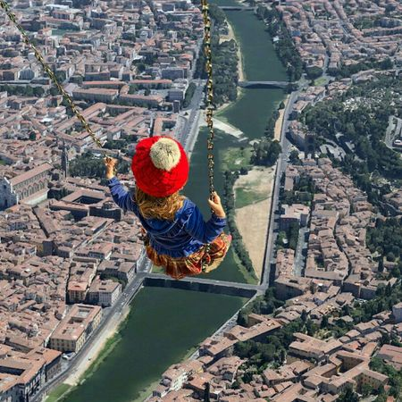 Drone  Panorama Dall'alto Firenze Arno  Fiume Altalena EyeEm Nature Lover Googleplus Selfie ✌ #