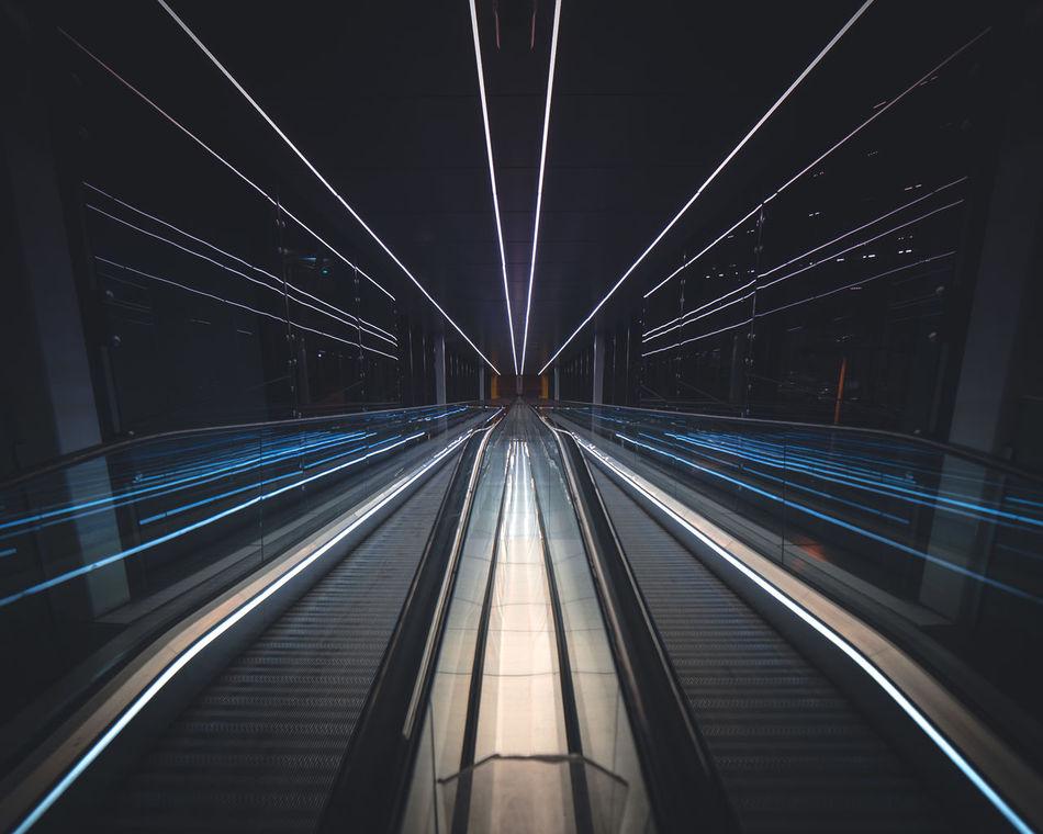 Vanishing Point Symmetry Nightphotography Architecture Brisbane