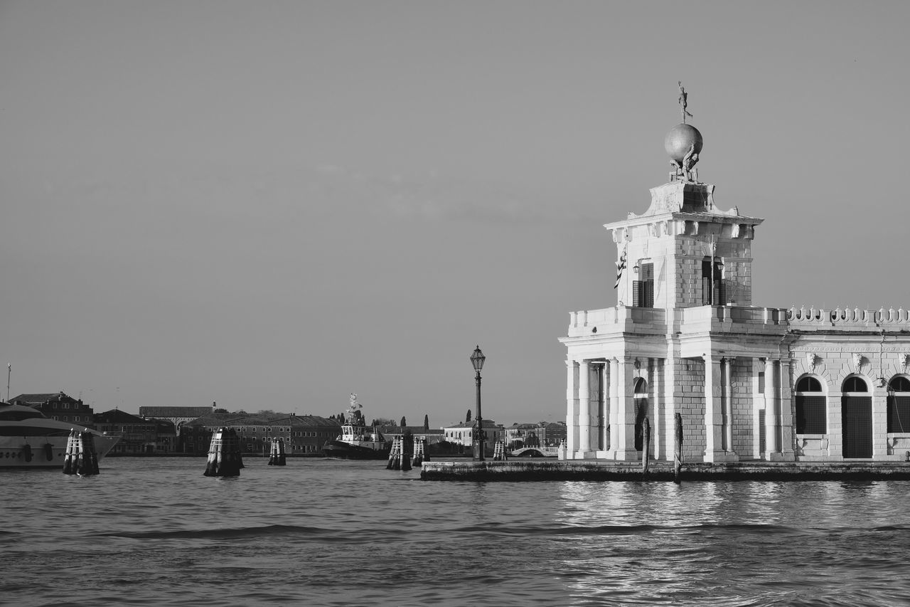 Architecture Black & White Black And White Black And White Photography Building Exterior Built Structure Clear Sky Day EyeEm Best Shots EyeEm Gallery EyeEmNewHere Landscape Landscape_Collection Landscape_photography Nature No People Outdoors Sea Sea And Sky Sea Life Sky Travel Destinations Venice Water Waterfront