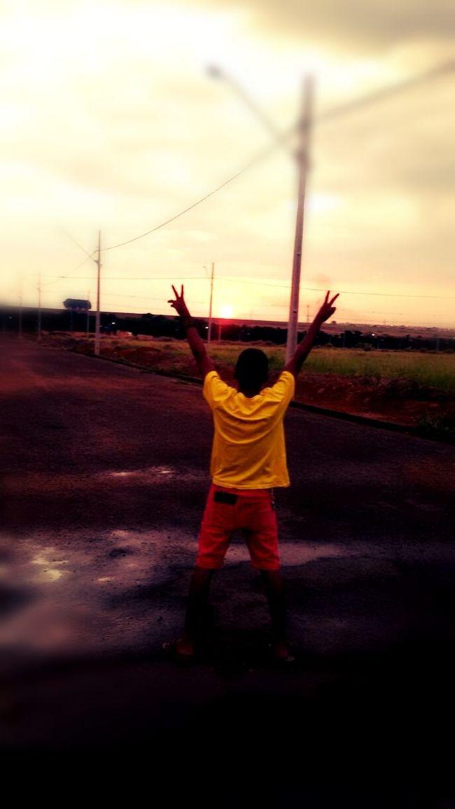 aproveito o clima chuvoso com o sol lindanob
