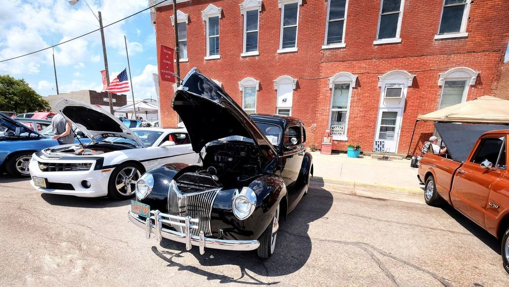 Car Show 2016 Old Settlers Picnic Village of Western, Nebraska 10-24mmWideAngle Architecture Automobile Automobiles Built Structure Cars CarShow Classic Car Classic Cars Color Photography Day HotRod Main Street USA Mode Of Transport Muscle Car Muscle Cars Old Settlers Picnic Outdoors Parked Parking Photo Essay Photography Small Town Street Western Nebraska