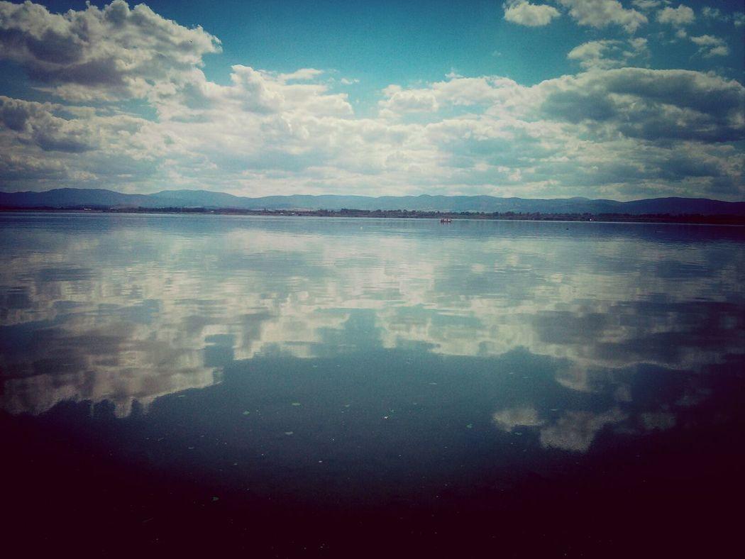 Lake Clouds Sky Landscape