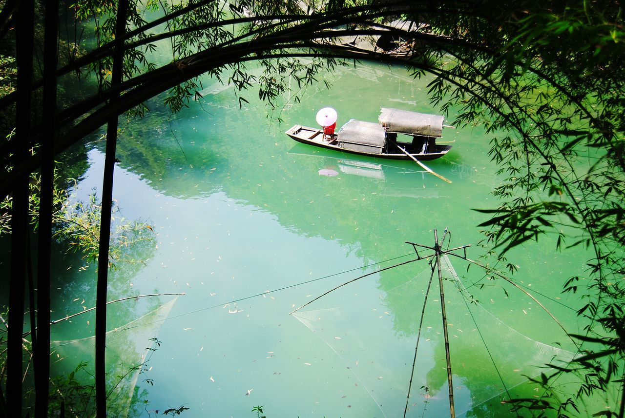 Beauty Beauty In Nature Riverbank River Riverscape Banboo Grass Green Color Green Plant Woman Portrait Poetry Boat Sanxia