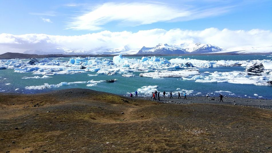 Freezingly beautiful. Water Sea Cold Temperature Iceland Melting Ice Caps First Day Of Summer Surreal I Saw This Dream Come True