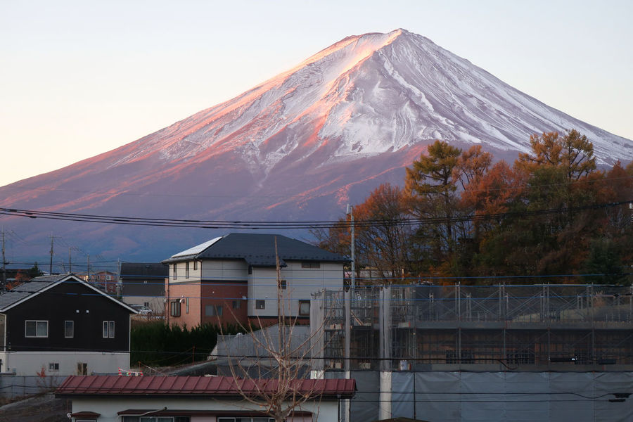 Autumn Fujisan Japan Kawaguchiko Tokyo Architecture Beauty In Nature Building Exterior Built Structure Day Fujimountain House Mountain Mountfuji Nature No People Outdoors Roof Scenics Sky Snow Tree Water Winter