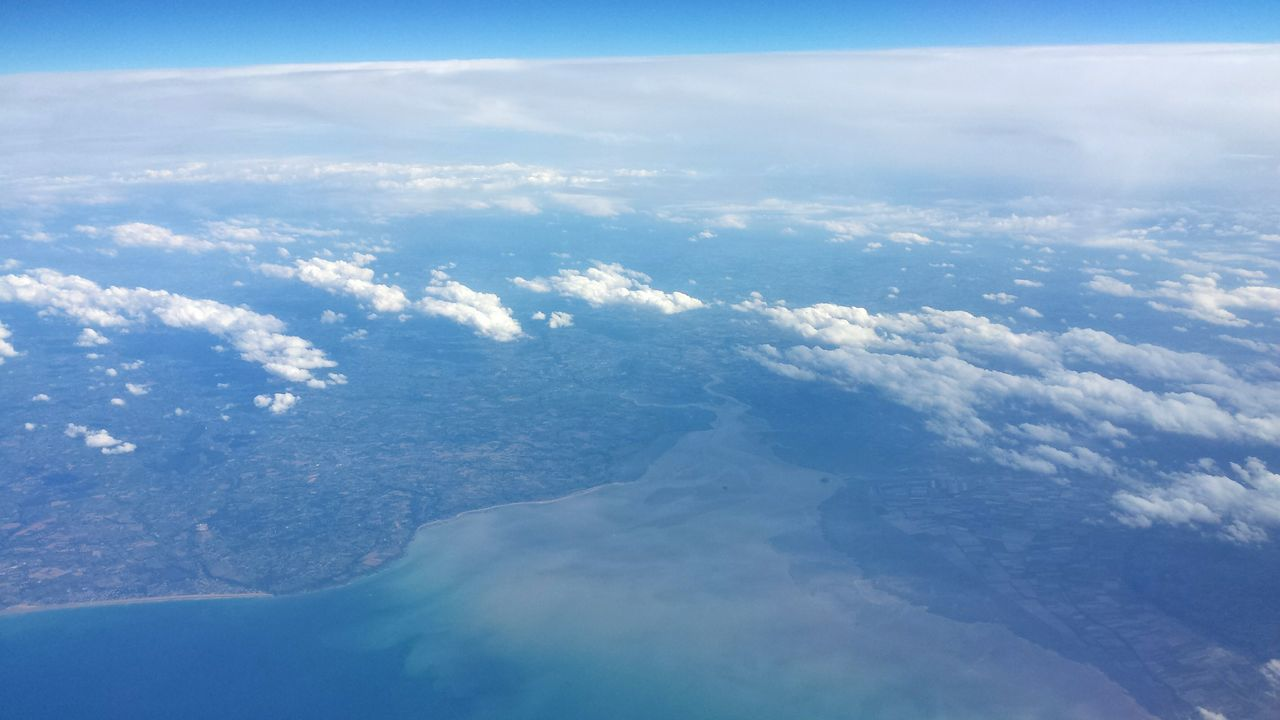 View From Above Coast Sea Clouds