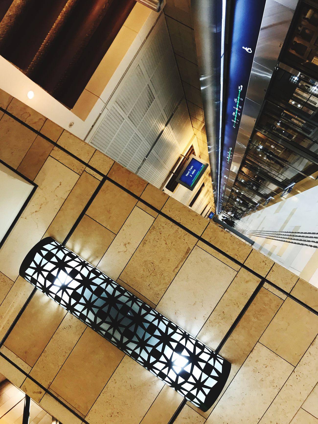 Indoors  Architecture Illuminated Dubai Viewpoint Metro Ghubaiba