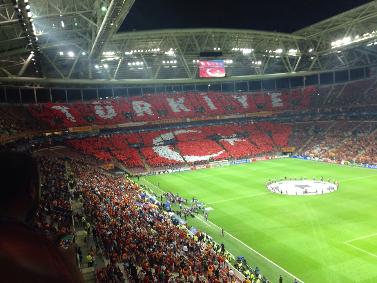 GalataSaray Cimbom Turktelekomarena Turkey Stadium Football Champions Champion Uefacup Supercup Uefasupercup Fans Fanatic Sarikirmizi Ultraaslan Galatasaray Cimbom 💛❤️ GALATASARAY1905 Cimbombom Transportation Night Travel Mode Of Transport Journey Multi Colored Tourism City Life Dark History Outdoors Flying Colorful Famous Place Crowd Aerial View