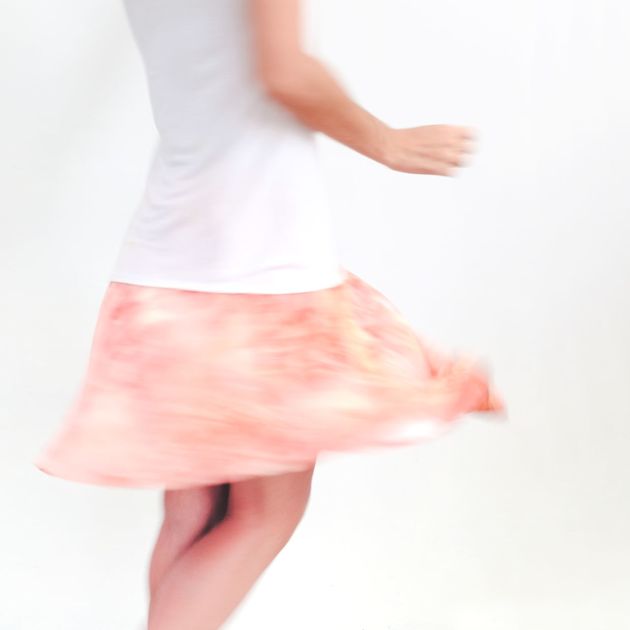 Dancing Dancing Girl Dynamic Human Body Part Human Leg Indoors  Lifestyles Low Section Movement Photography One Person Real People White Background Women