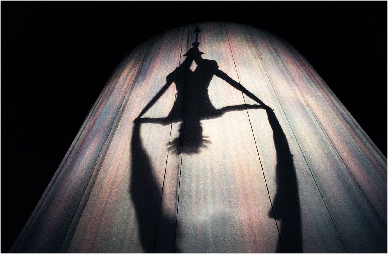 shadow, silhouette, night, standing, curtain, performance, no people, illuminated, indoors, black background