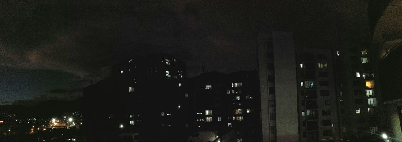 Night Sky Neigborhood Lights Clouds Rainy Days Rain Thursday Thursdaynight Sixthirty Windows Sky No People Indoors  Night Close-up Panoramic