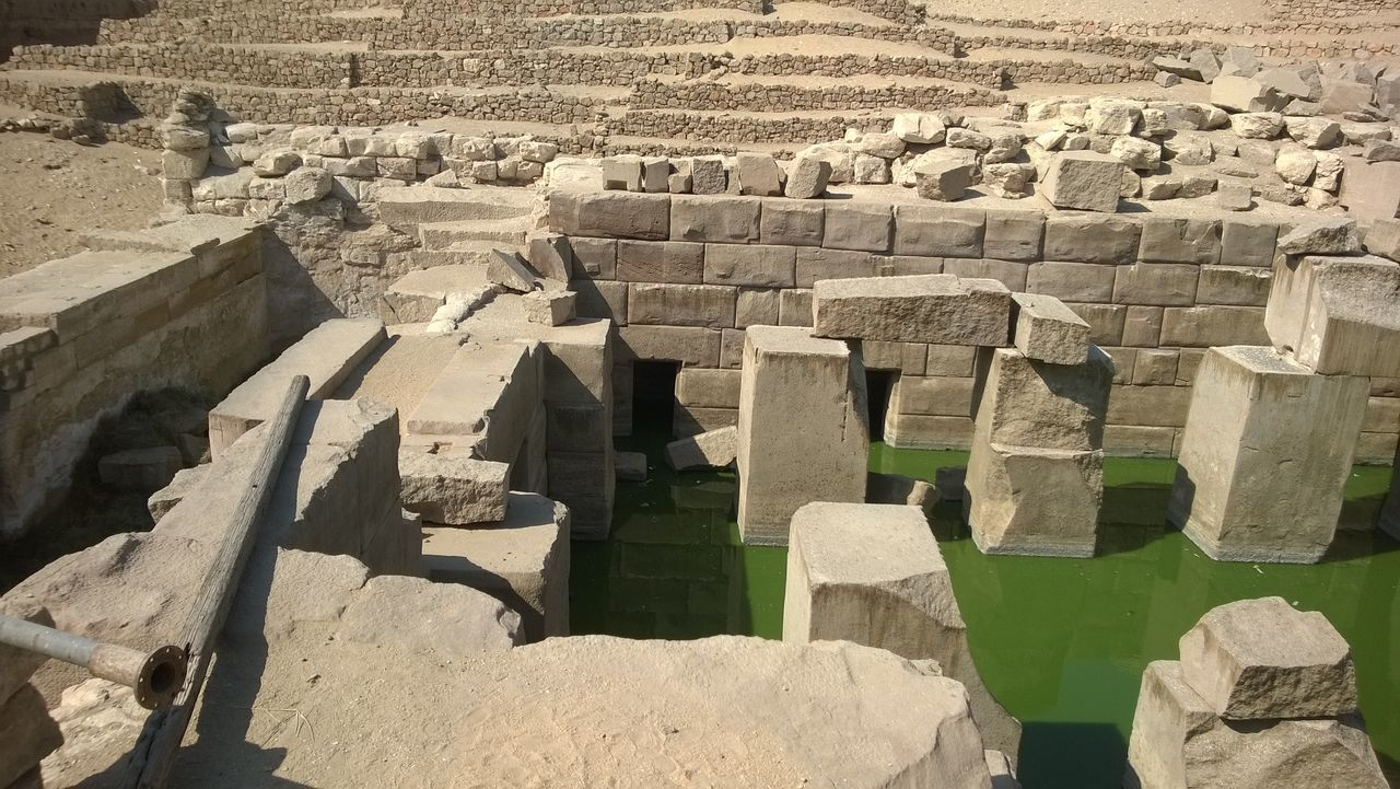 The Abydos Abydos Archaeology Flower Of Life Green Water Myths And Legends  No People Osiris Outdoors Ruins