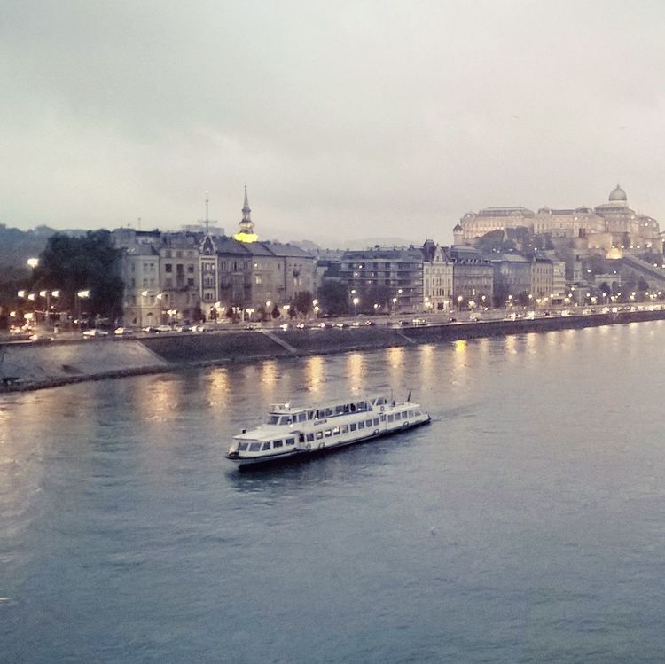 #boat #budacastle #budapest #citylife #citylights #cityscapes #danube #lumiaphoto #ship #unesco Architecture Building Exterior Built Structure City Cityscape Cloud - Sky Day No People Outdoors River Sky Travel Destinations Water Waterfront