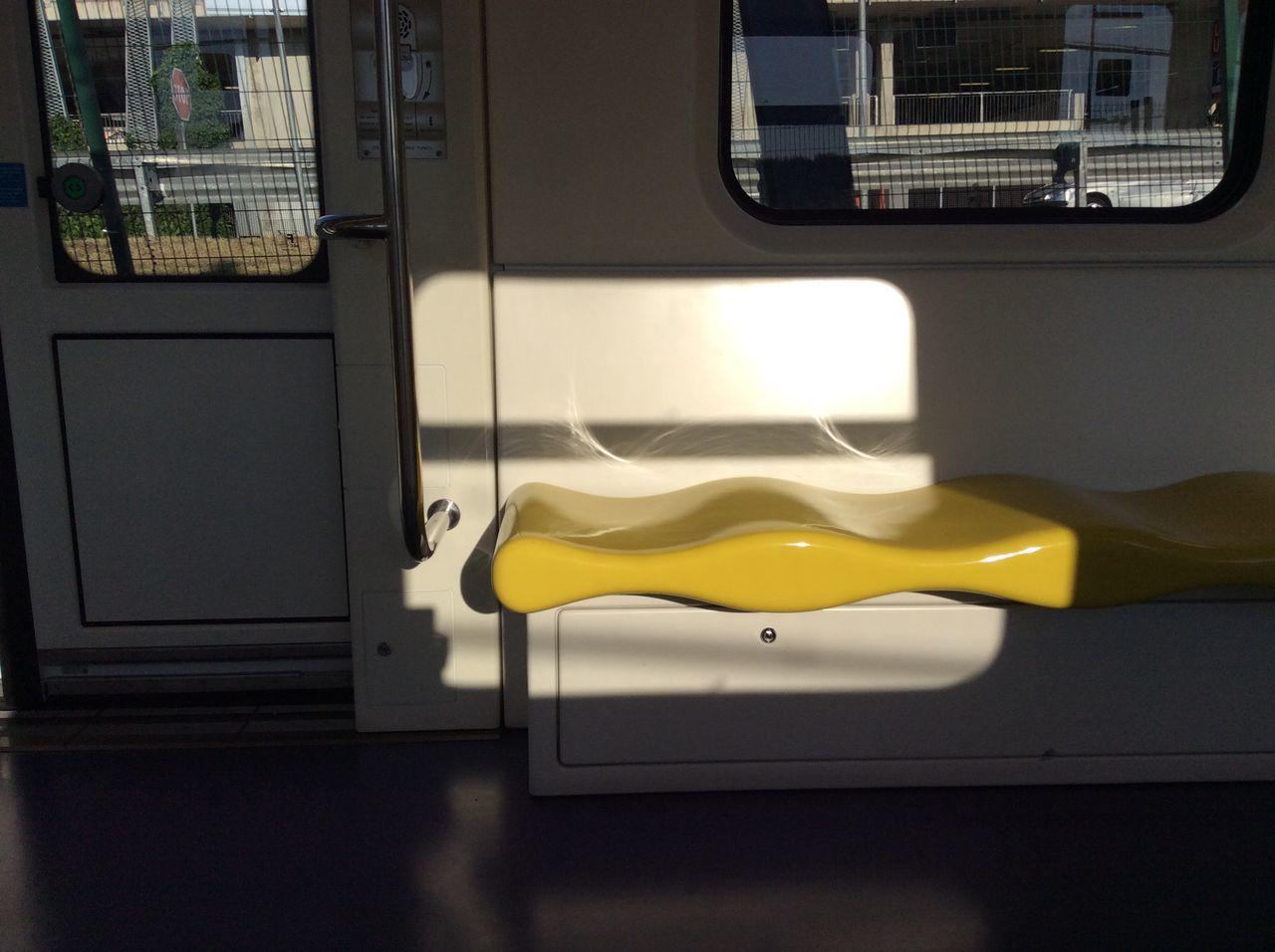 Empty Yellow Seat In Train