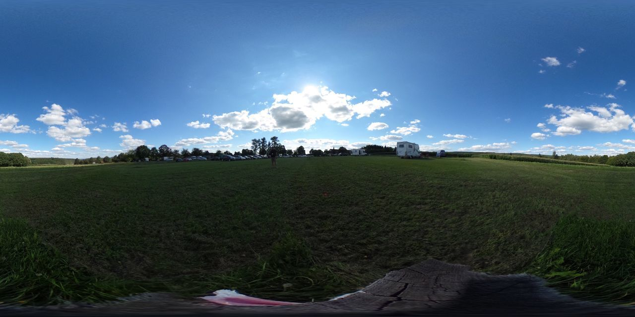 Field Sky Landscape Beauty In Nature Nature Grass Cloud - Sky Tranquil Scene Tranquility Agriculture Day Scenics Growth Outdoors Rural Scene Tree No People 360 Panorama 360° 360 360° Pictures  360° Panoramic Views 360camera