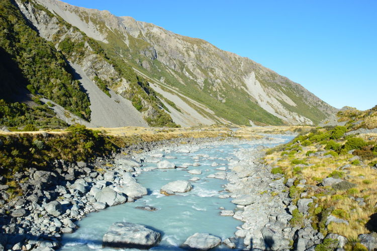 Aoraki Landscape Mount Cook Mountain Nature New Zealand No People Outdoors Scenics Travel Traveling Water Miles Away