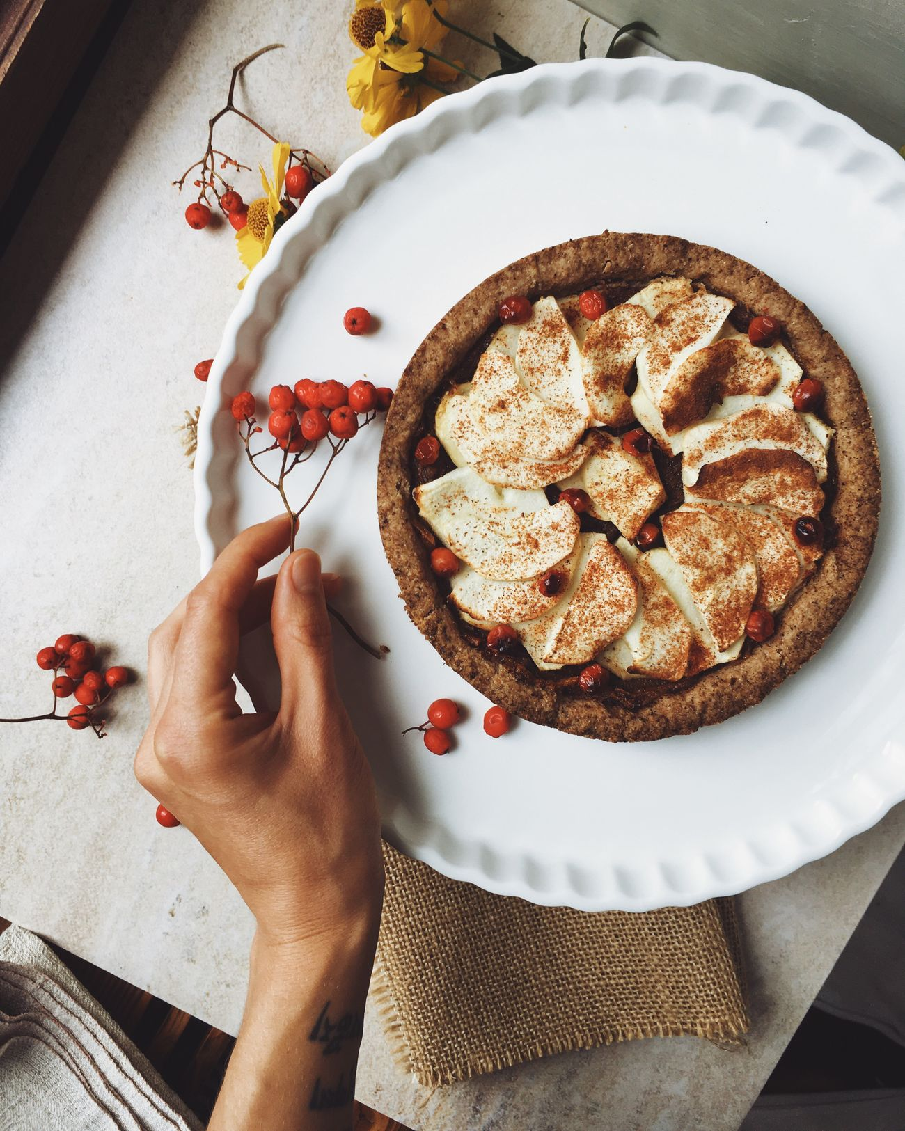 Homemade vegan apple pie. Food Healthy Eating Vegan Vegan Food Plantbased Pie Apples Foodphotography First Eyeem Photo